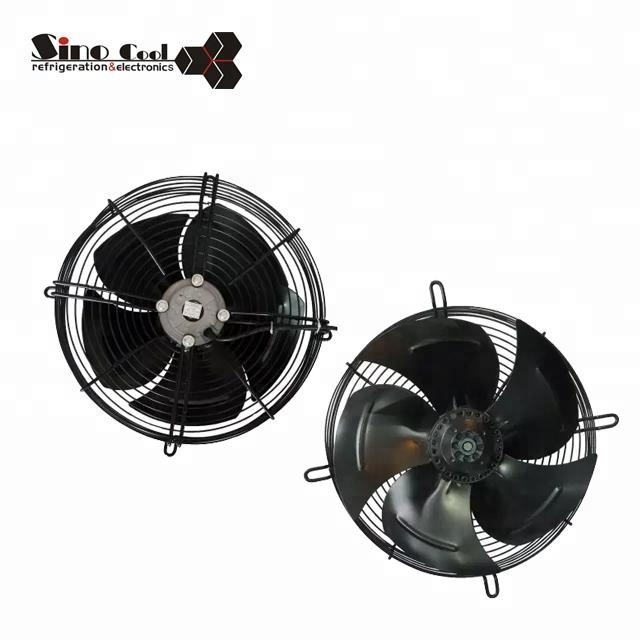 Ac axial fan for refrigerator ventilation
