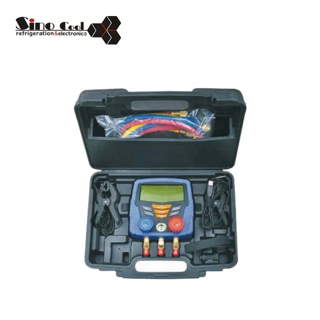 High quality digital manifold gauge aluminum alloy valve body r410a