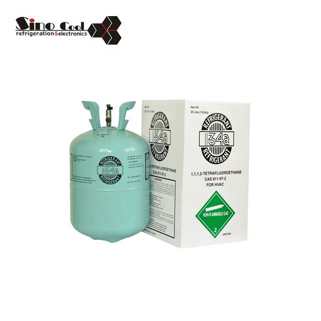 Factory price air condition 99.9% purity 13.6 kg refrigerant gas r134a