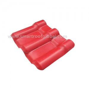 Red Color Synthetic Resin Roof Tile