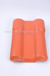 ASA Coated Plastic Synthetic Resin Roof Tile