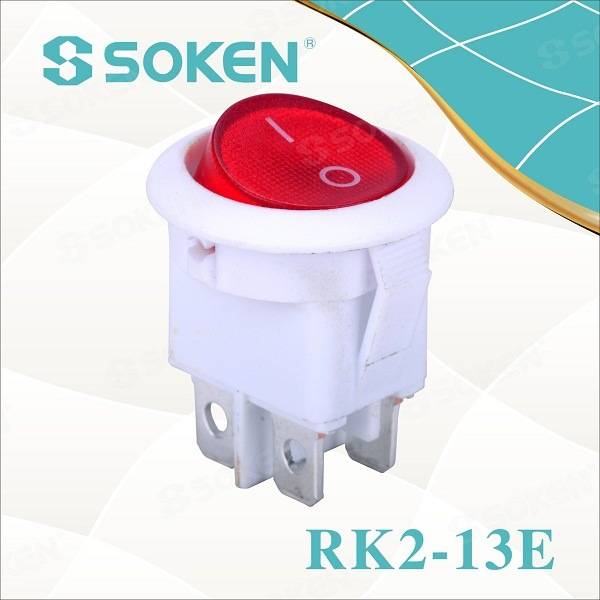 4 Pins Round Rocker Switches / 3 Pozita Switch 16A 250V