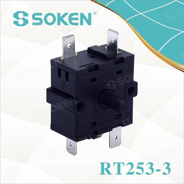 6 posisyon Rotary Switch sa Kainit (RT253-3)