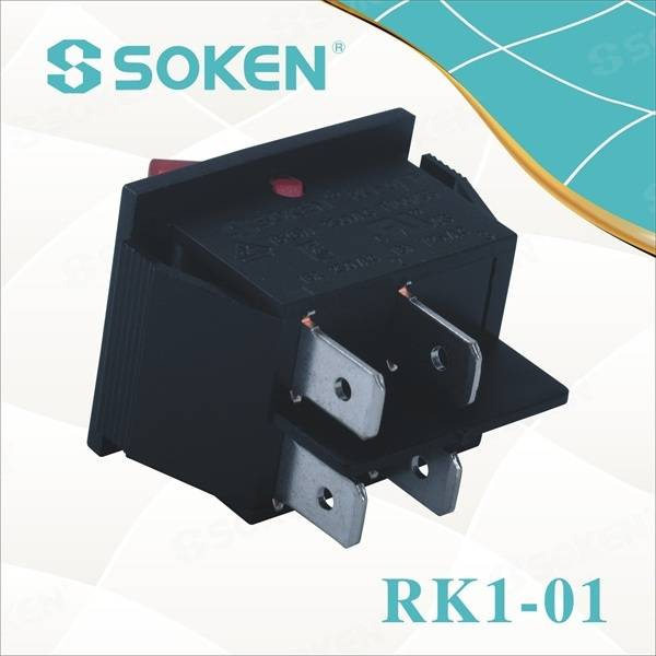 Dpst Light Rocker Switch with 4 Pins