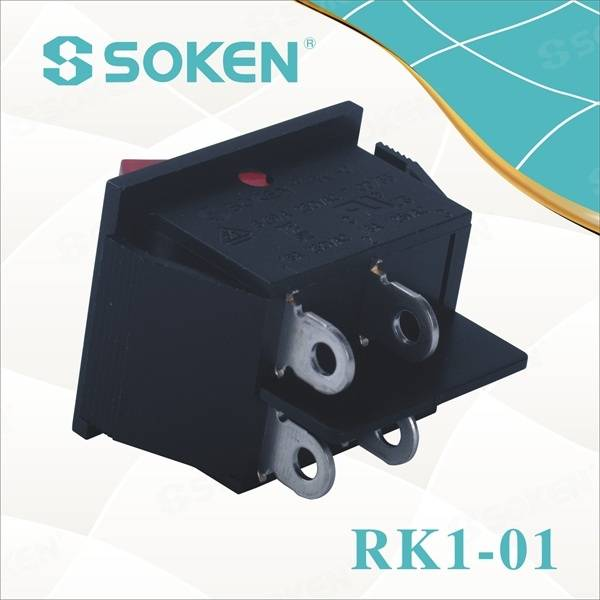 Dpst Light Rocker Switch with 4 Solder Terminals