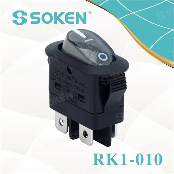 Dpst Sgòthan Rocker Switch le KC Teisteanas 16a 250VAC