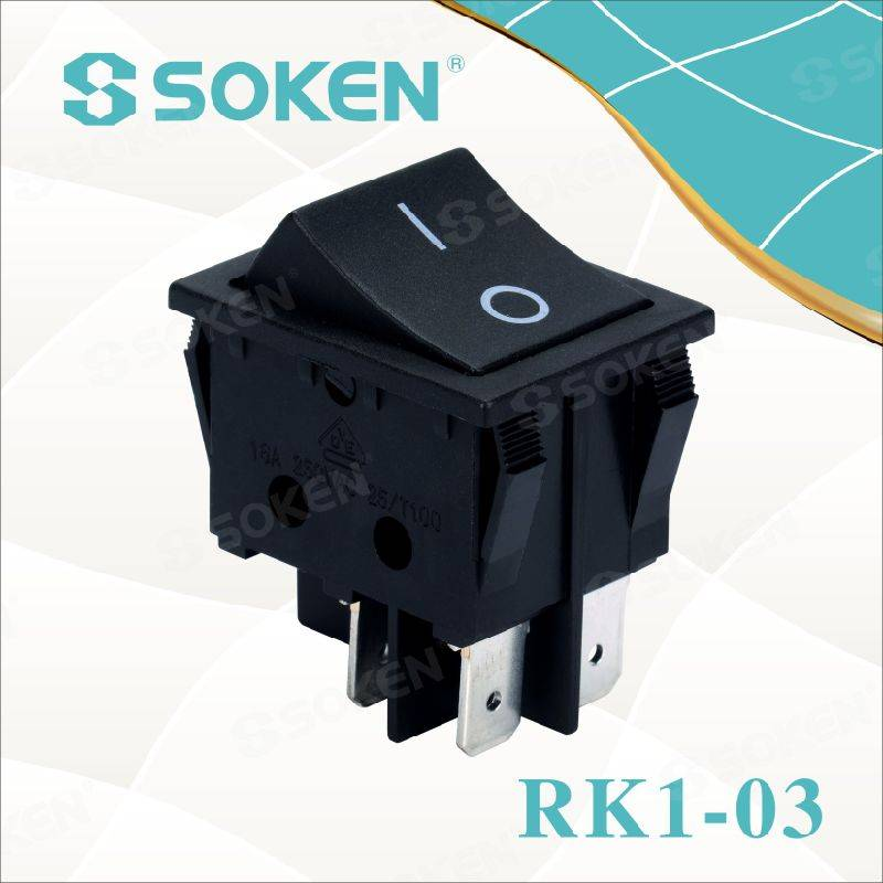 Lighted on off Rocker Switch