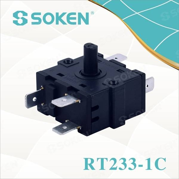 Nylon Rotary Switch with 4 Positions (RT233-1C)