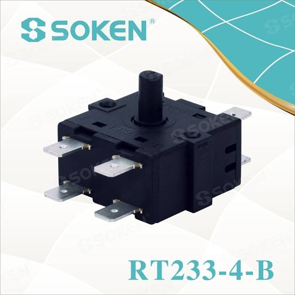 Nylon Rotary Switch with 4 Positions (RT233-4-B)