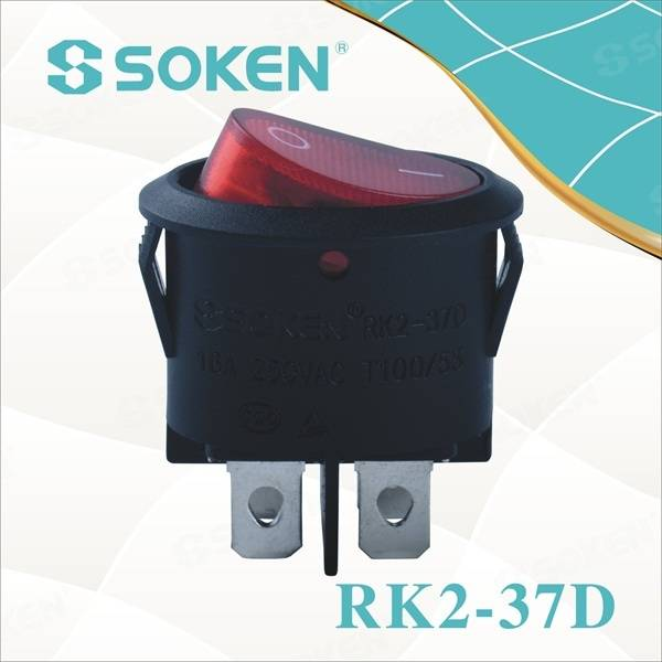 Oval Rocker 4pin Switch