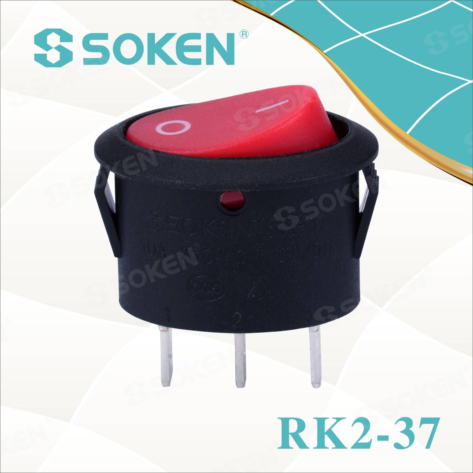 Oval rocker Switch Rk2-37A