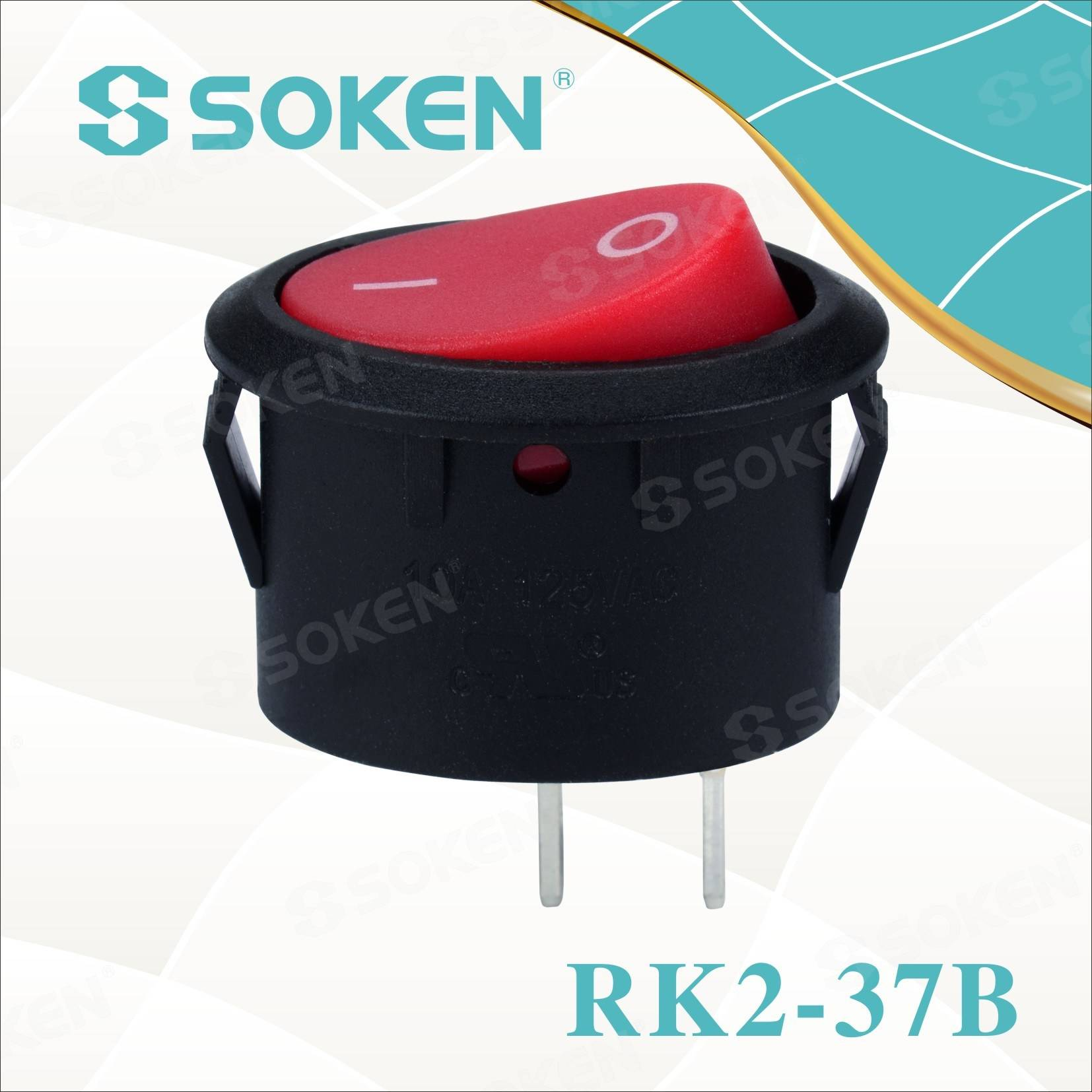 Овальный Rocker Switch Rk2-37b