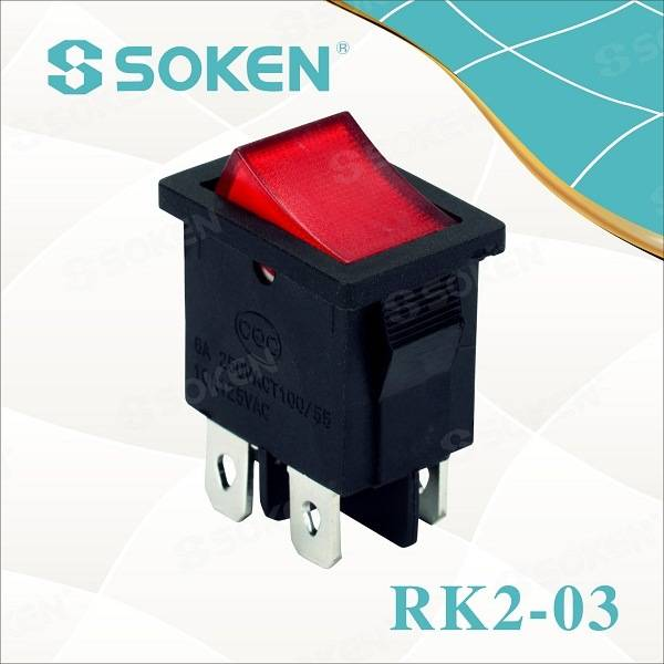 Rk2-03 DPST Кеман Keur Асвятленне Rocker Switch T85 10A 250VAC