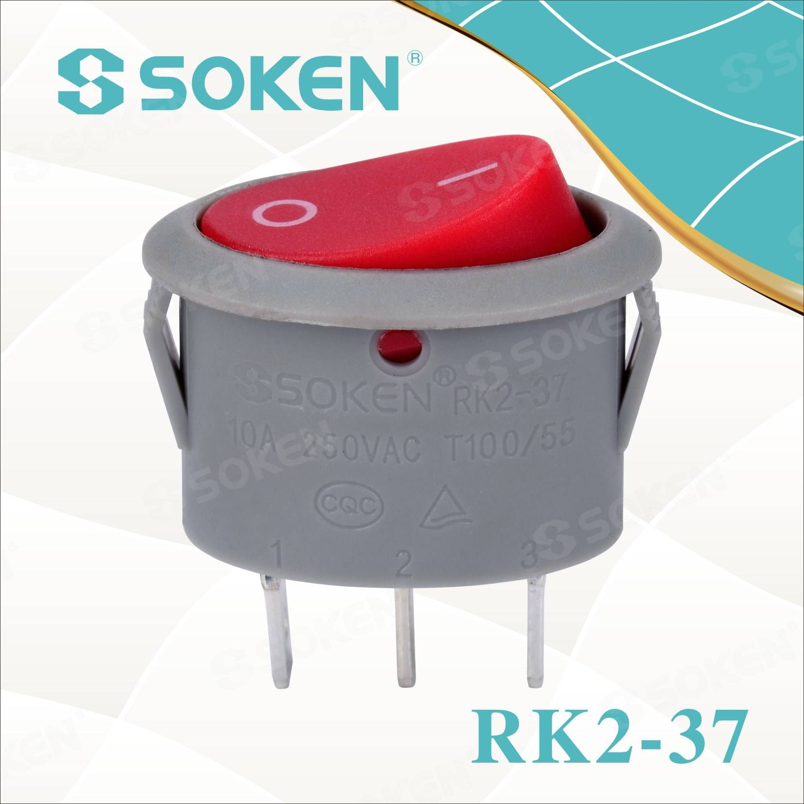 Rk2-37A Oval Rocker Switch