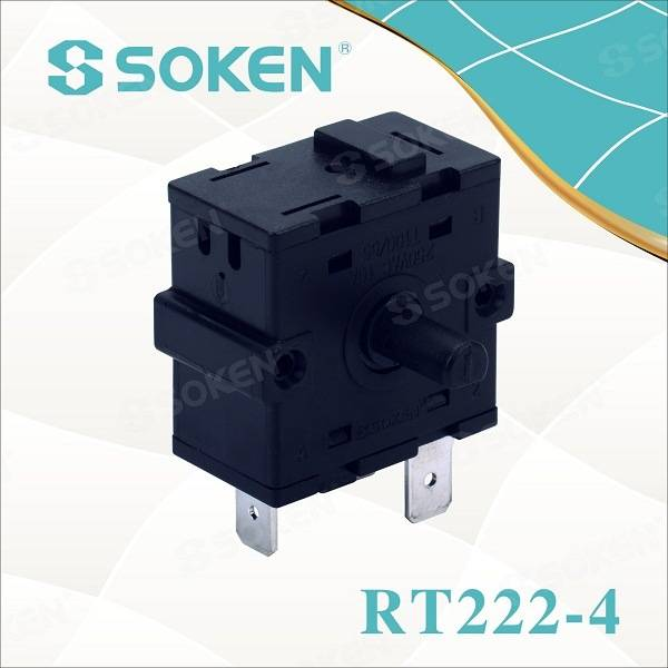 Soken 3 Way Humidifier Rotary Switch 16A 250V Rt222-4