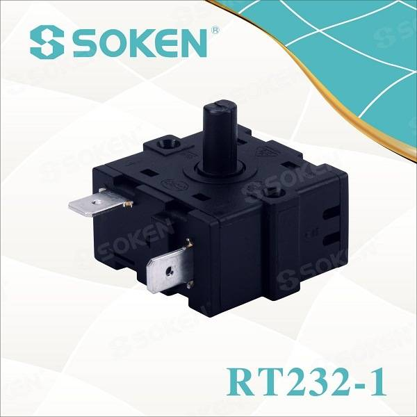 Soken 4 Position Rotary Switch for Oven Rt232-1