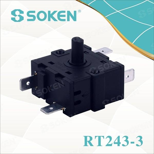 Soken Electric Heater Multi Position Rotary Switch 16A 250V Rt243-3