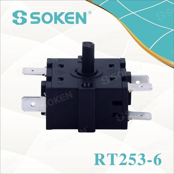 Soken Electric Oven Knob 6 Position Rotary Switch Ktl Rt253-6