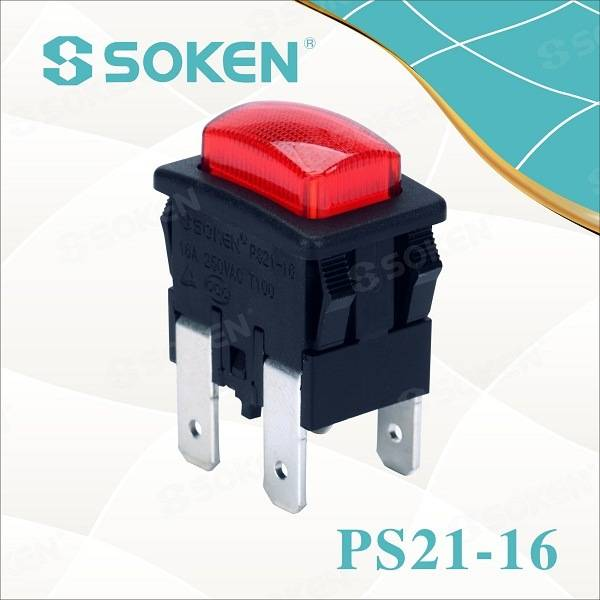 Soken Garment avullore Push Button Switch 2 Pole