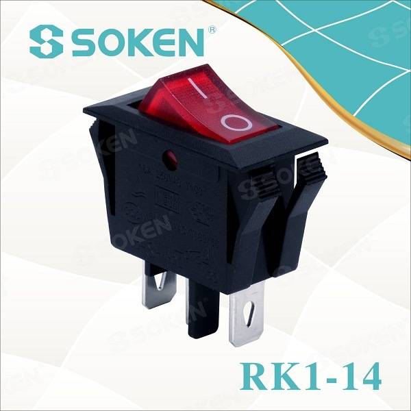 In off-16A domum MACHINA Soken 250VAC rocker switch T85