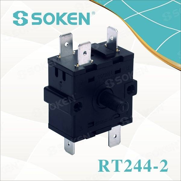 Soken podstavec Fan 5 Pozícia Rotary Switch Rt244-2