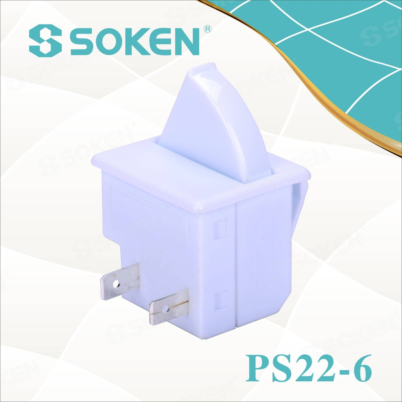 Soken Refrigerator Door Lamp Push Button Switch PS22-6