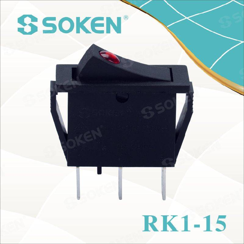 Soken Rk1-15 1X1n Lens on off Rocker Switch