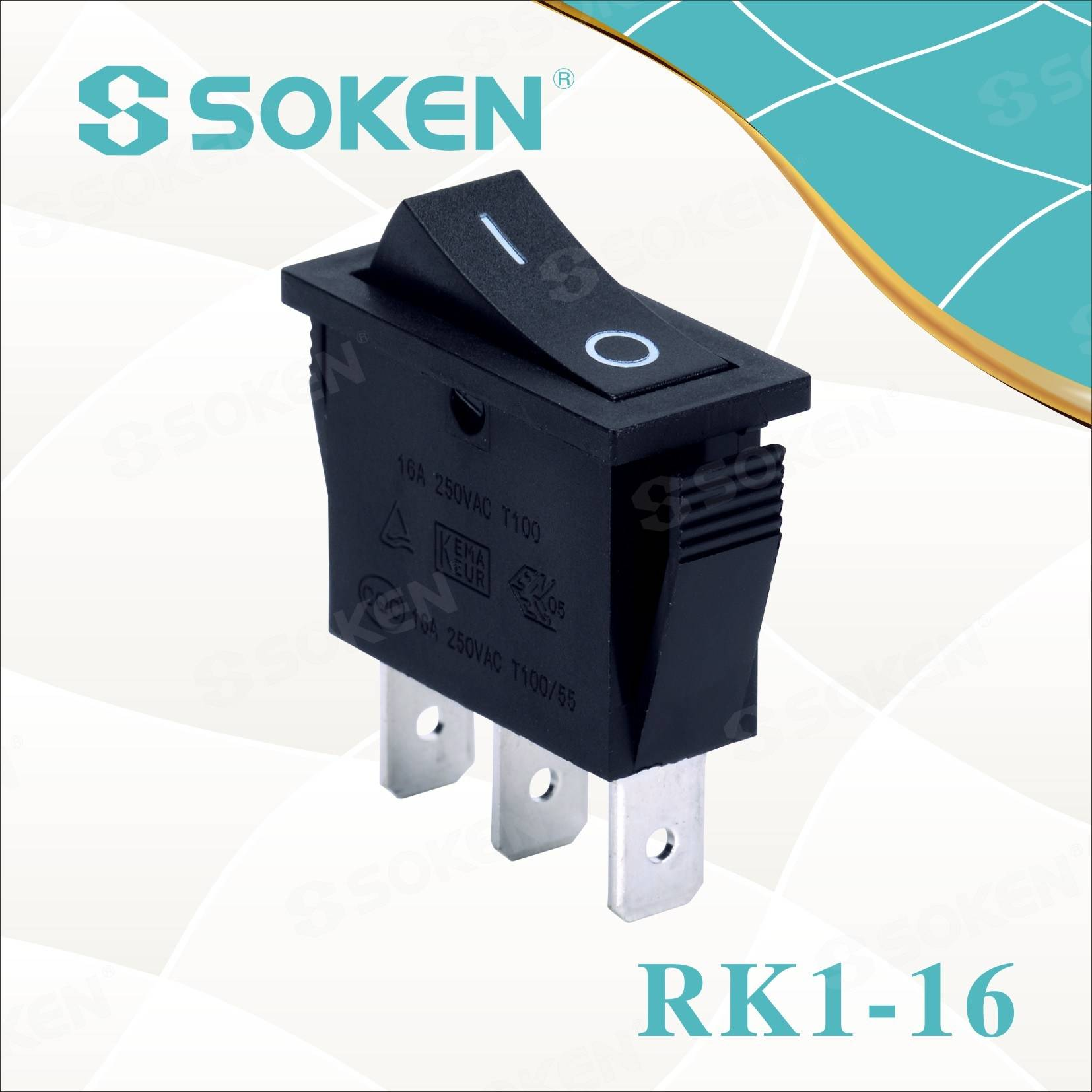 Soken Rk1-16 1X2 li ser Rocker Switch