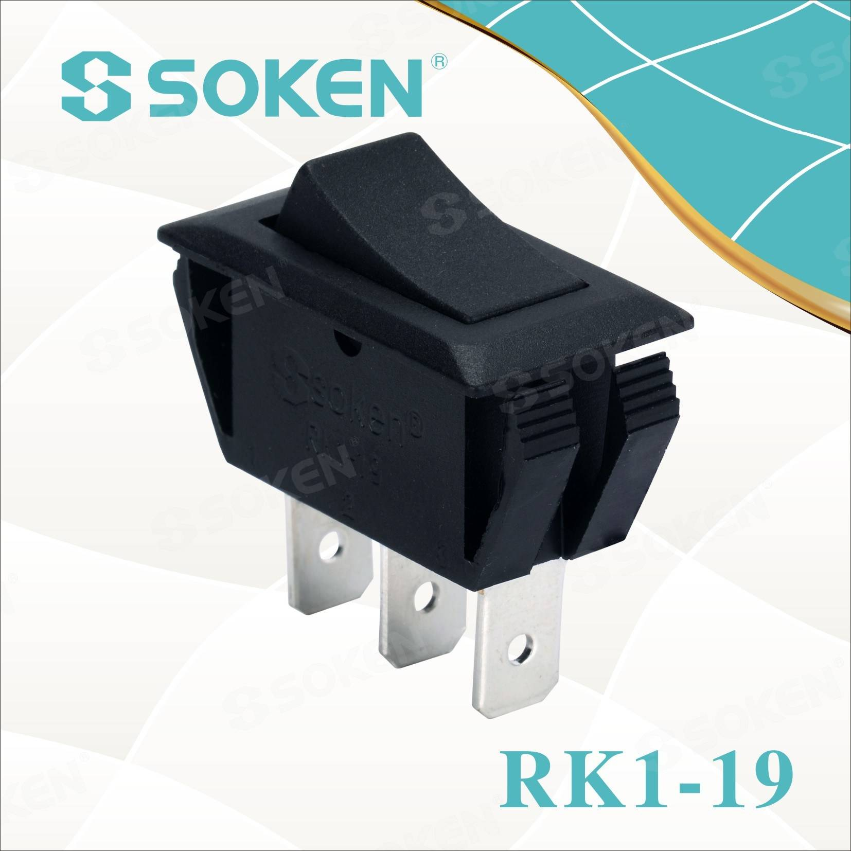 Soken Rk1-19 1X2 on on Rocker Switch