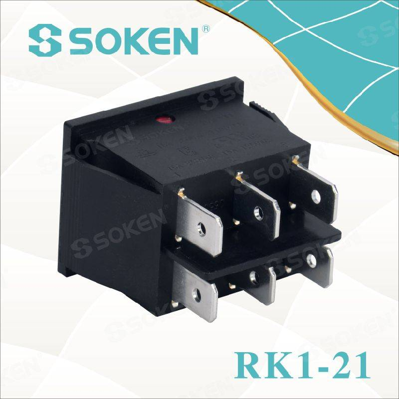 Soken Rk1-21 on off Illuminated Double Rocker Switch