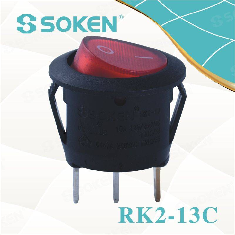Soken Rk2-13c 1X1n Round on off Rocker Switch