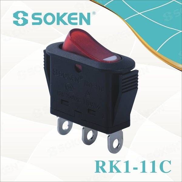 Electrical Appliance Rk1-11c üçün Soken Rocker Switch on-off / on-on