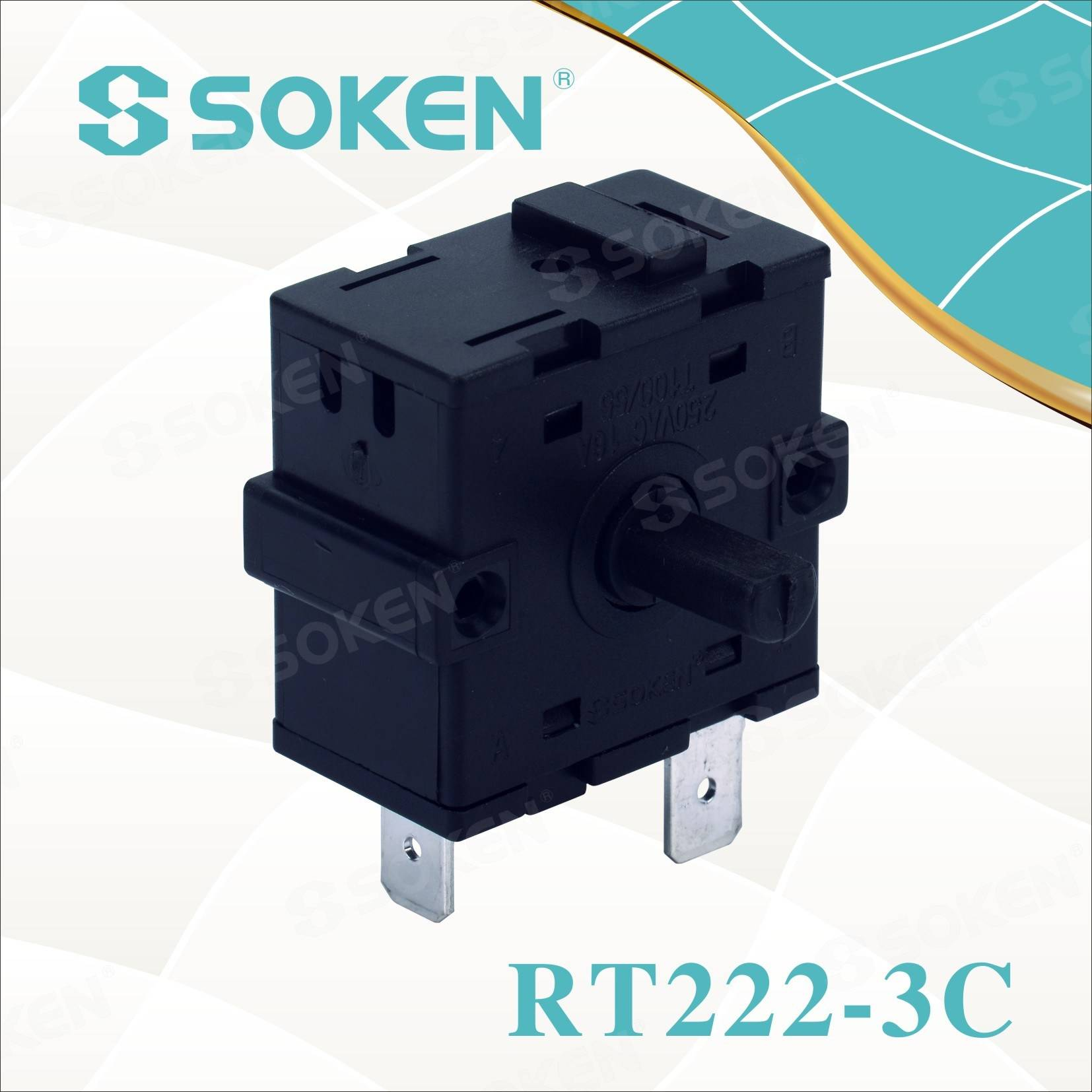 Online Exporter 2 Pole 3 Position Rotary Switch -