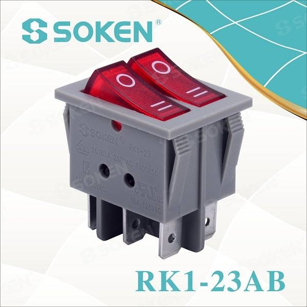 Soken Switch Double Rocker Switch T85 Twins Button