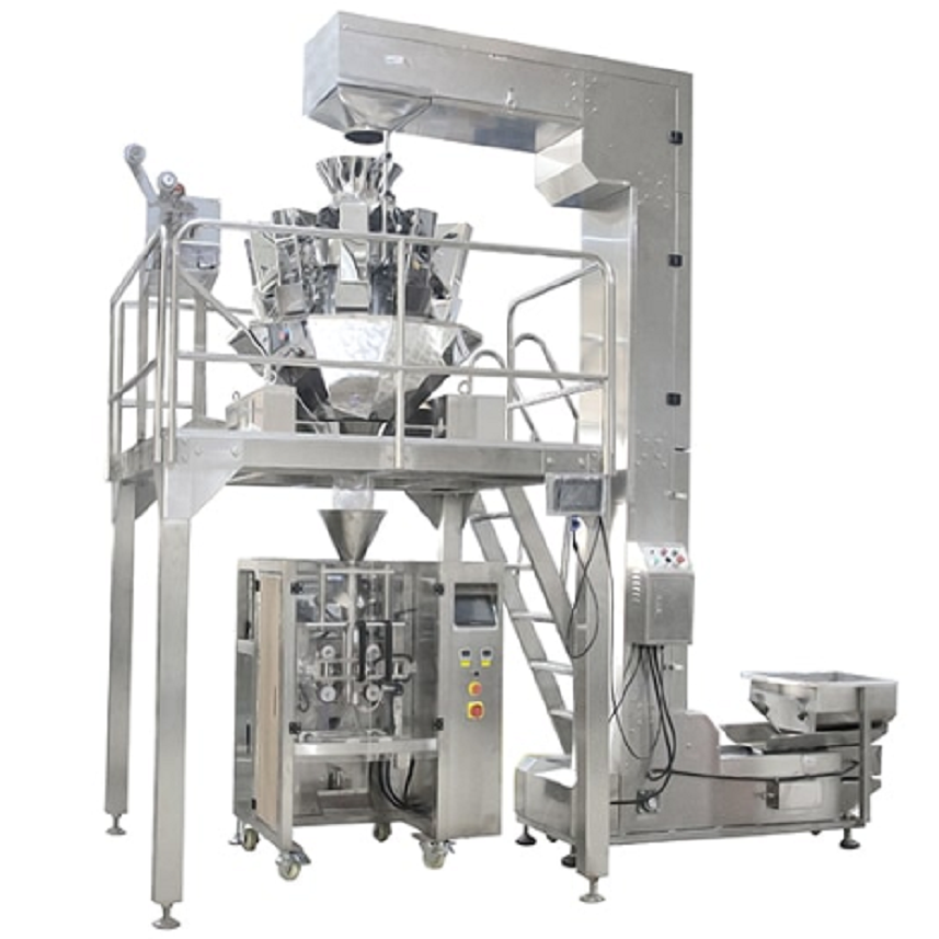 SNACKS POTATO CHIPS PACKING MACHINE FOOD PACKAGING WITH ISHIDA MULTI HEAD WEIGHER Featured Image
