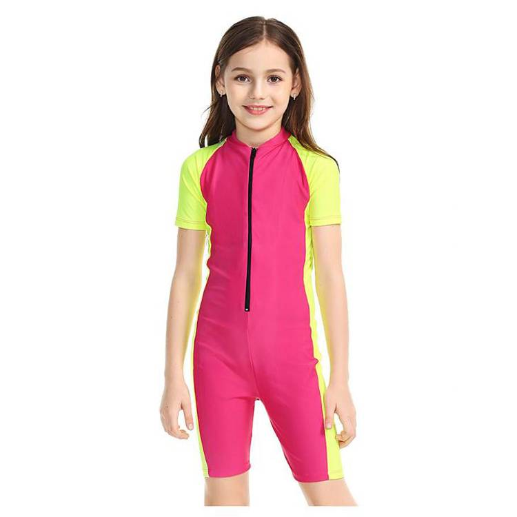 New Arrival kids Swimsuit one piece girls swimwear for children Featured Image