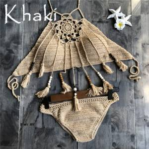 New fashion Bohemia beachwear swim suit african brazilian swimwear women sexy crochet bikini