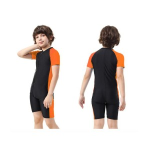New Arrival cute custom one piece Children's Swimsuit for boys