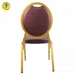 Outdoor Garden Stackable Steel Metal Church Chair Cinema Banquet Dinning Restaurant Iron Chair Iron Furniture SF-011