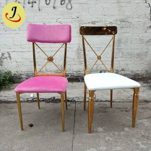 Golden Elegant  velvet Stainless Steel wedding Chair  SF-SS031