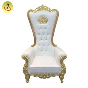 Cheap new style white and gold high back King throne chair SF-K036