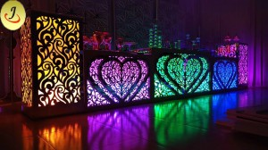 Modern New Design Square Shape Transparent Acrylic Base with LED Wedding Table SF-WT018
