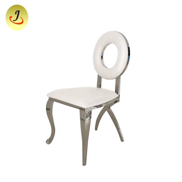 Stainless Steel Chair Stackable Gold Banquet Chairs with White Cushion SF-SS020 Featured Image