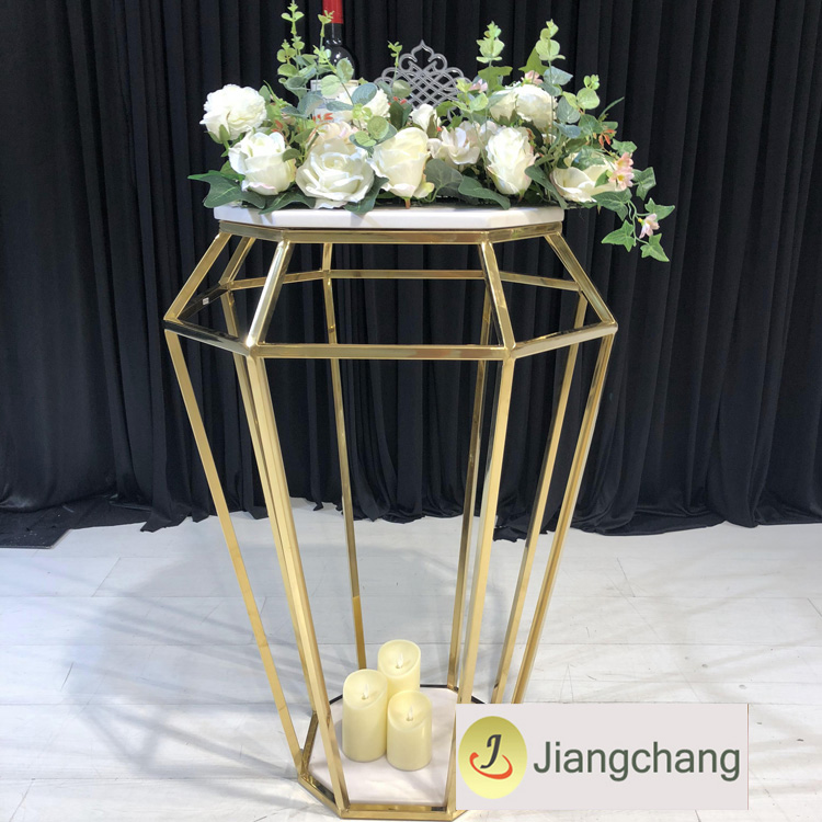 New Design Metal Frame Wedding Decoration Flower Stand for Event SF-Z026 Featured Image
