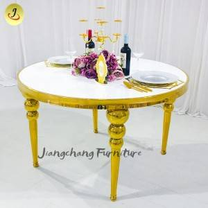 Wedding furniture gold stainless Steel legs dining round tables for events reception SF-ST08