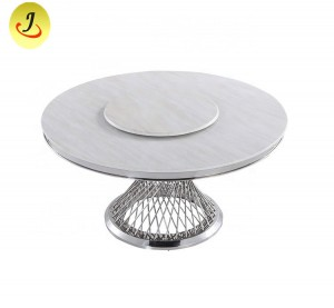 Luxury Modern Style Marble Top Silver Stainless Steel Frame Wedding Table SF-SS022