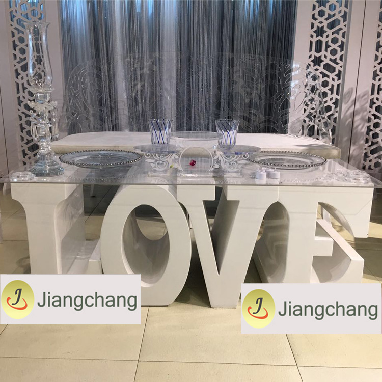 Popular White Wedding-Love-Letter-Table /Modern Wedding Table SF-WT022 Featured Image
