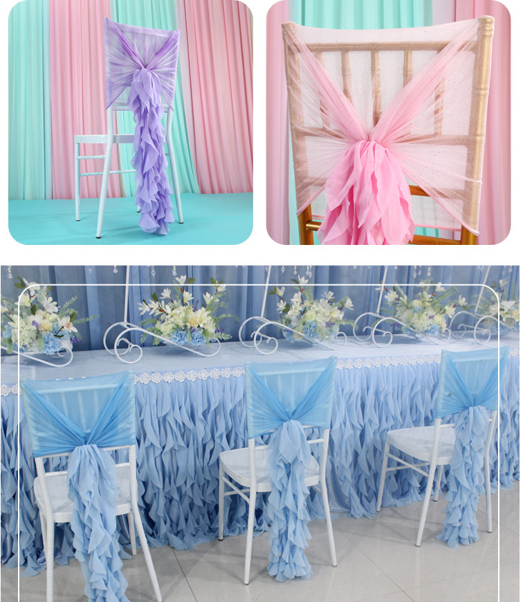 How to decorate chiavari chairs at wedding ?