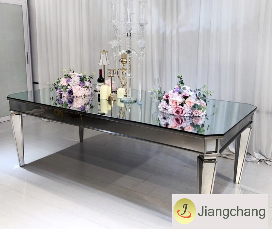 Wedding mirror top table