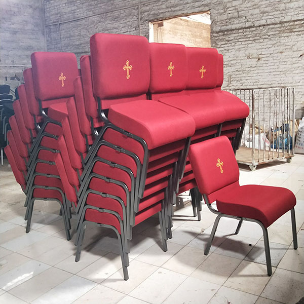 Factory Free sample Cushioned Molded Affordable Church Chair -